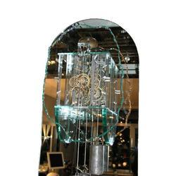 Französische Wanduhr in Glas (Uhrwerk von 1870).